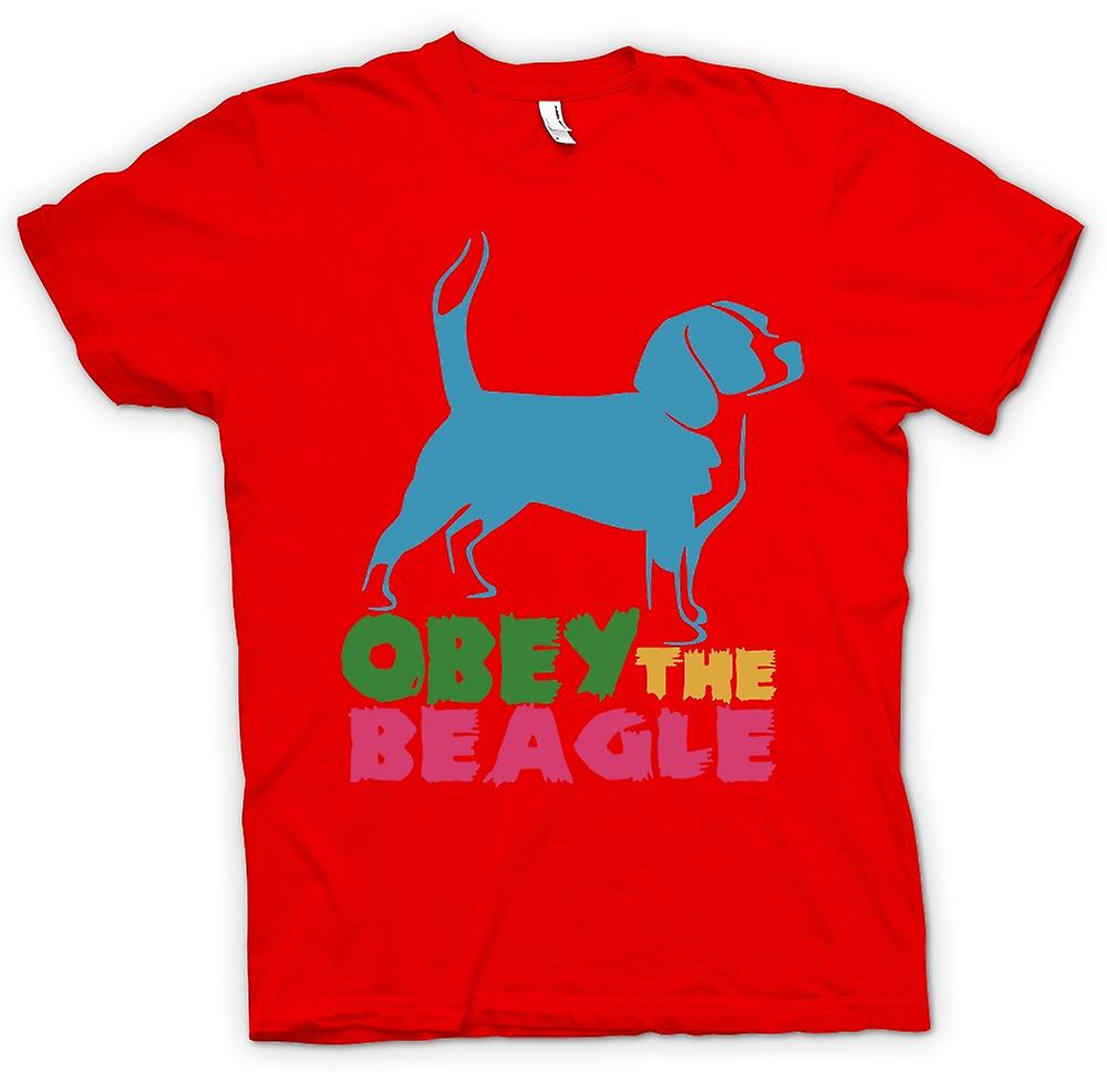 Hommes T-shirt - Obey The Beagle