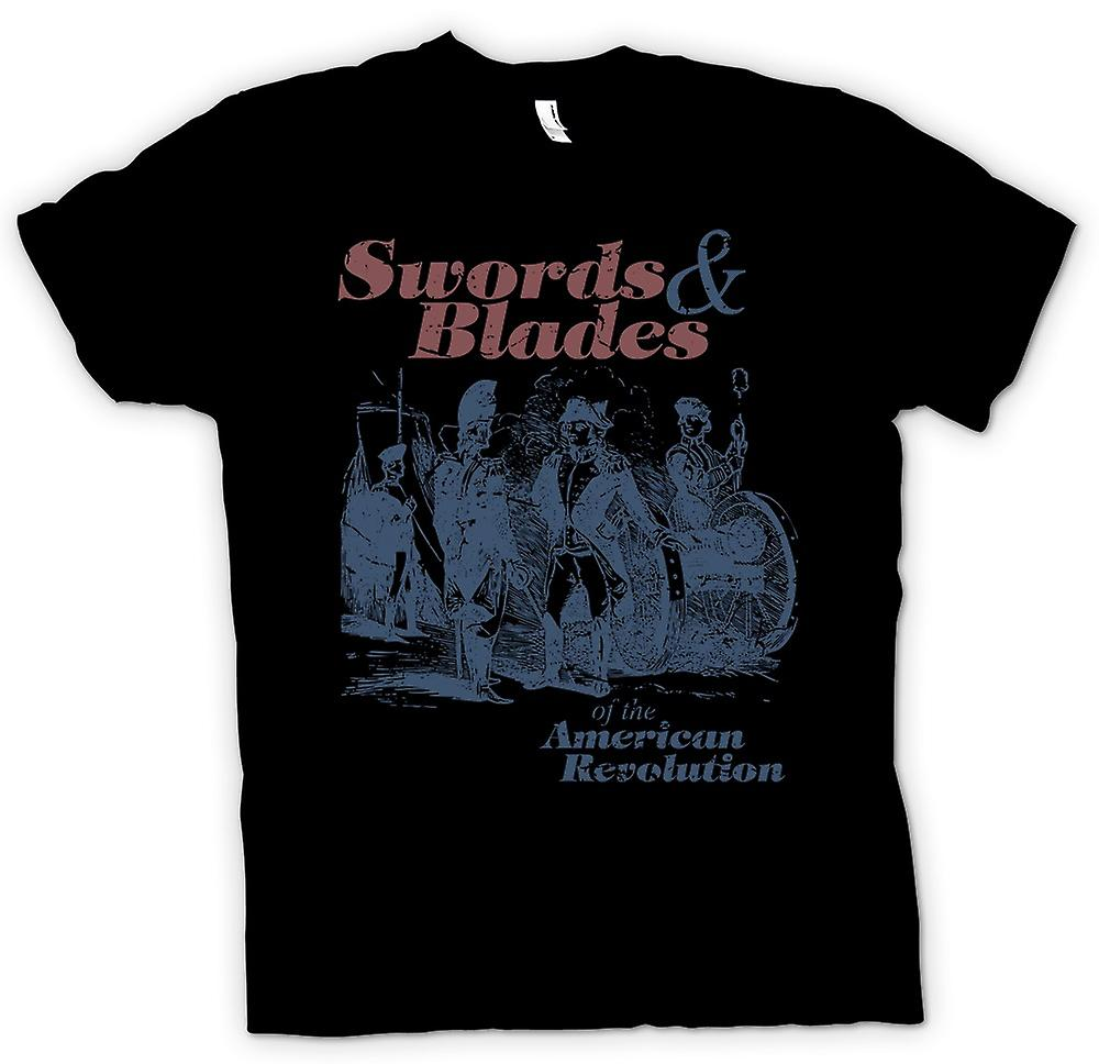 Mens T-shirt - Swords And Blades Of The American Revolution