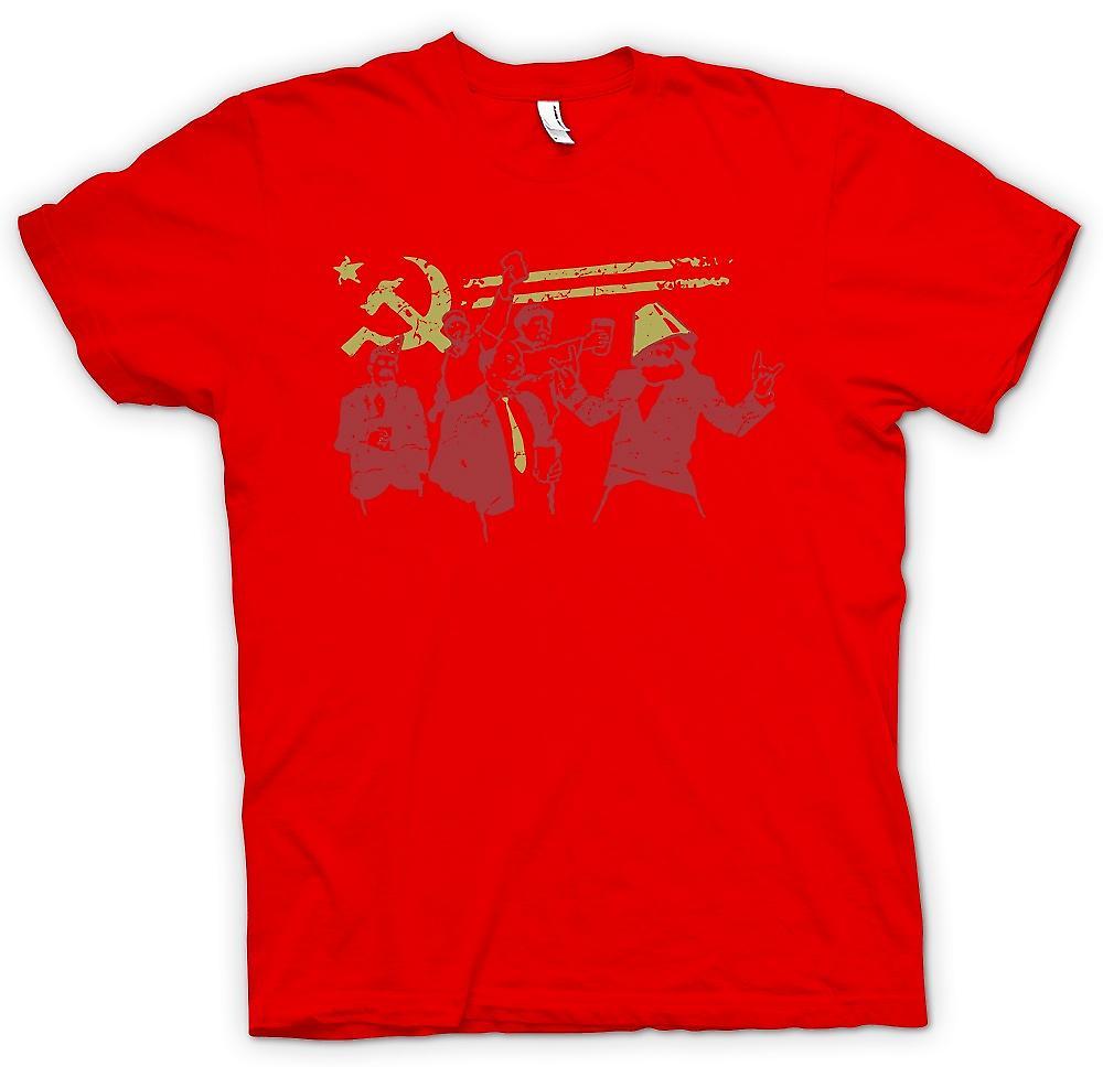Mens T-shirt - Kommunismus - Marx Lenin Stalin - Russland