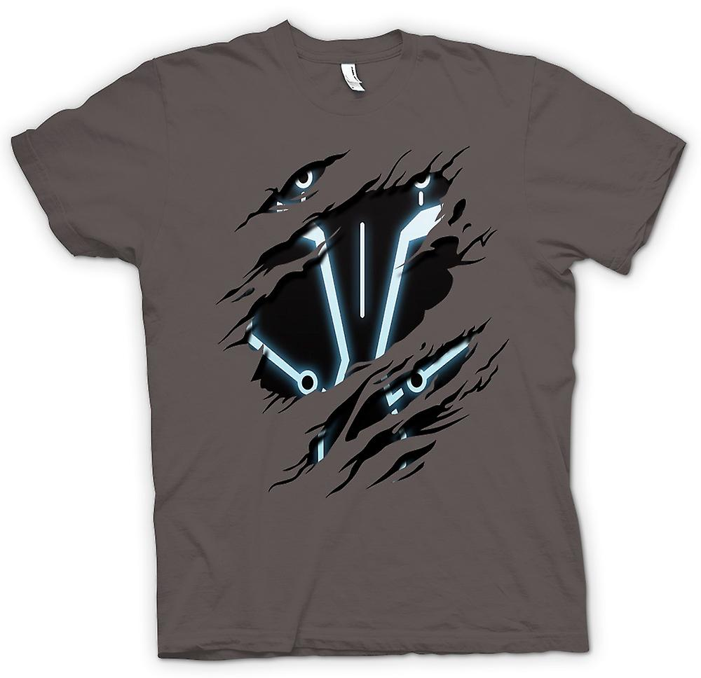 Womens T-shirt - Tron - Sci Fi Ripped Design