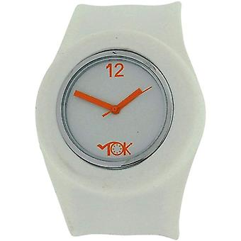 TOK Unisex Girls Boys Quartz Analogue White Silicone Slap Watch TOC157