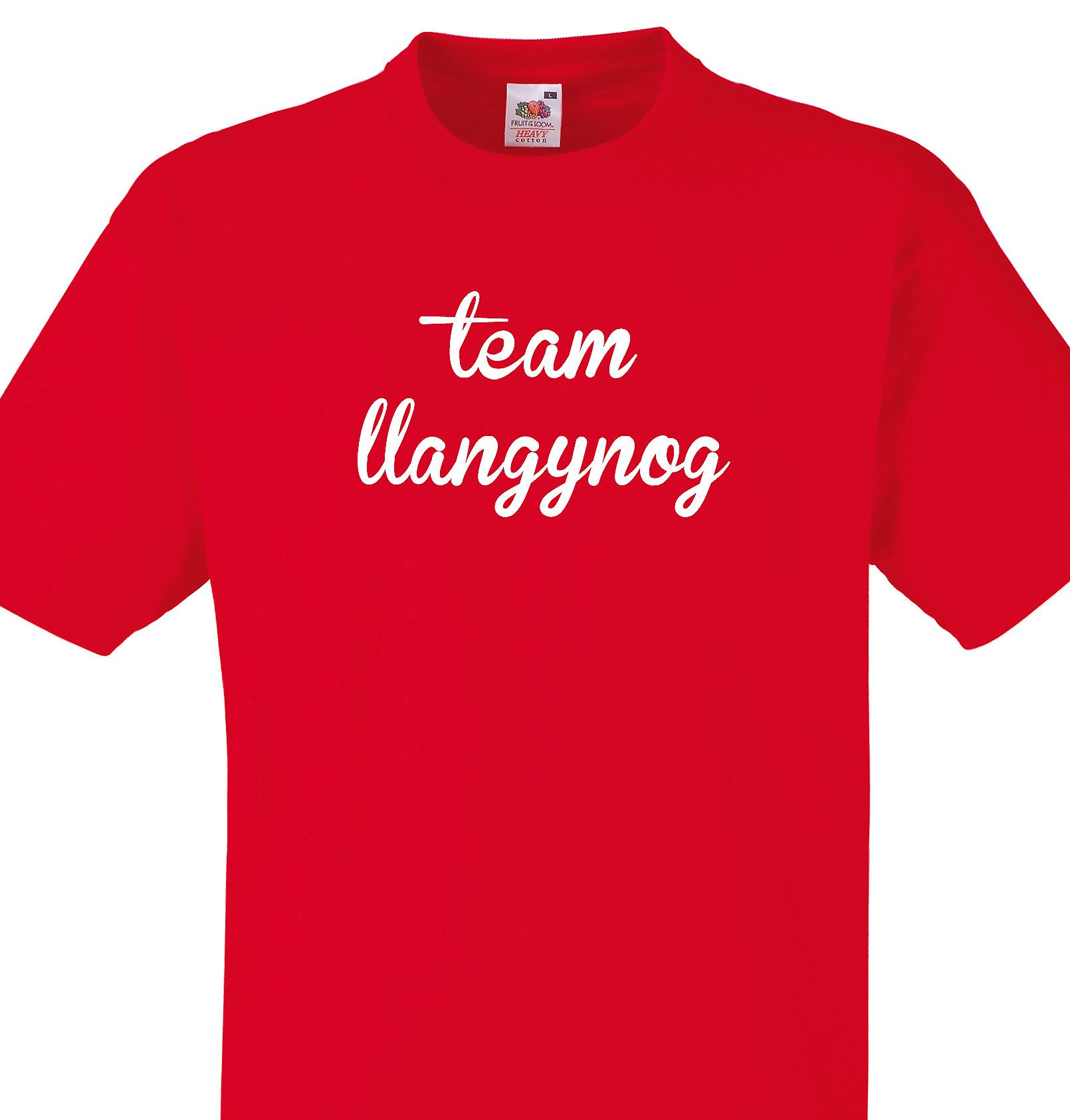 Team Llangynog Red T shirt