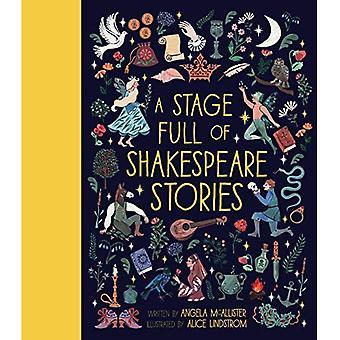 Ett skede Full av Shakespeare berättelser