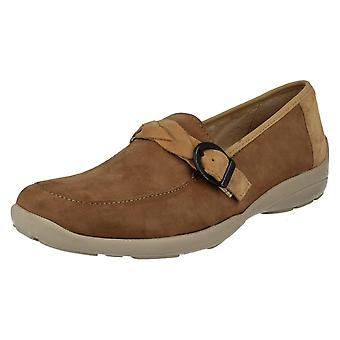 Ladies Easy B Wide Fitting Slip On Loafers Cork