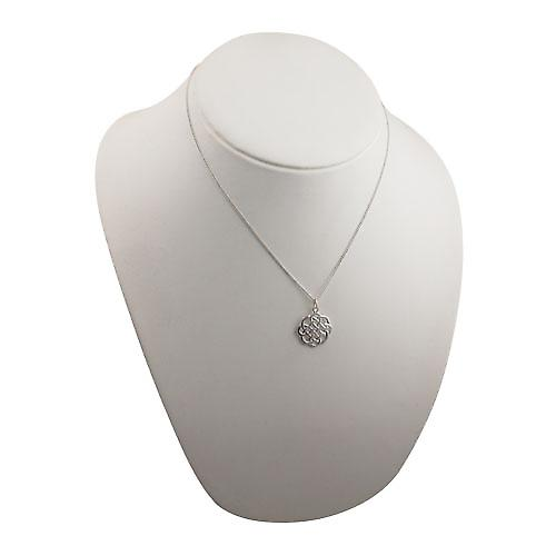 Silver 20x21mm Celtic knot design Pendant with a curb Chain 18 inches