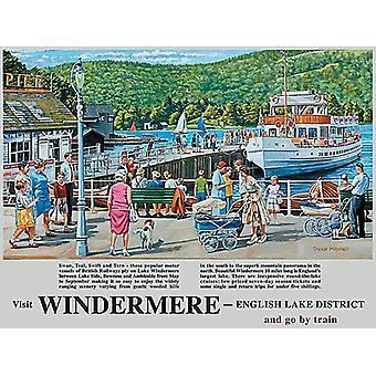 Windermere (old British Rail ad.) 90mm x 65mm fridge magnet  (og)