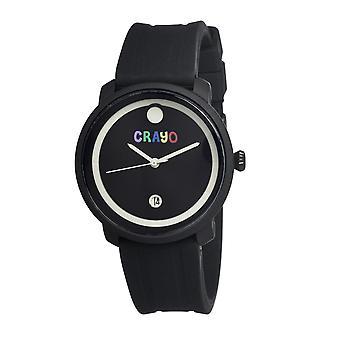 Crayo Fresh Unisex Watch w/Date - Black