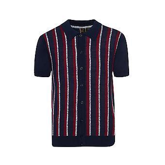 Merc WILMOT, vertical stripes knit polo