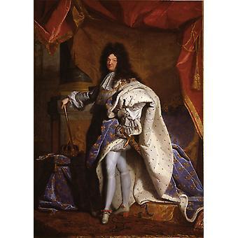 Portrait of Louis XIV, Hyacinthe Rigaud, 60x43cm