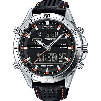 Analog-digital Watch LORUS quartz men's watch with leather RW637AX9