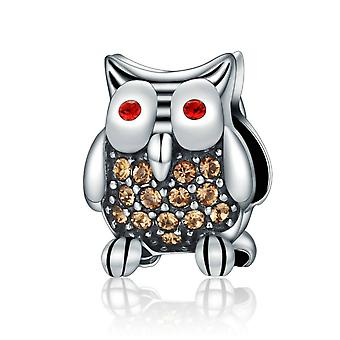 Sterling silver pendant charm Beautiful owl