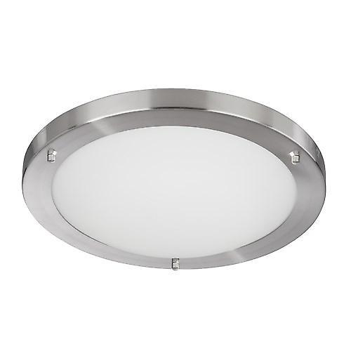 Searchlight 10632SS Modern Bathroom Flush Ceiling Light 16W 2D Low Energy