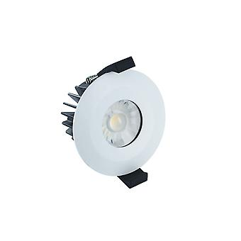 Integral - LED Low Profile IP65 Fire Rated Downlight Spotlight 6W 4000K 440lm Dimmable Matt White IP65 - ILDLFR70B003