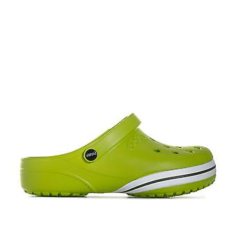 Infant Crocs Clogs Kilby Beach Shoes In Green- Slip On Design- Roomy Fit-