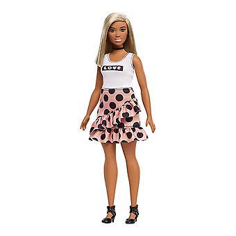 Barbie FXL51 fashionistas boneca, Polka Dot curvy, cabelo branco