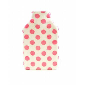 Plush Fleece Cover Hot Water Bottle: Candy Spots