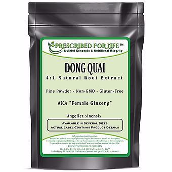 Dong Quai-4:1 natuurlijke wortel extract poeder (Angelica sinensis)