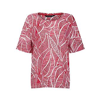 Abstract Leaf Print Top