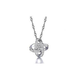 18K White-Gold plated Flower Necklace