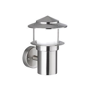 Wofi Salerno - LED 1 Light Outdoor Wall Light Brushed Stainless Steel - 4089.01.97.7000