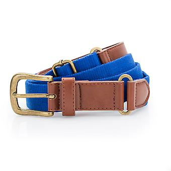 Asquith & Fox - Faux Leather And Canvas Belt