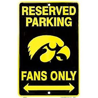 Iowa Hawkeyes NCAA Fans Only Reserved Parking Sign