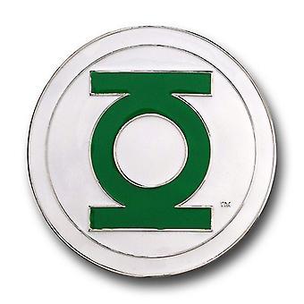 Linterna Verde Hebilla blanca y cinturón verde