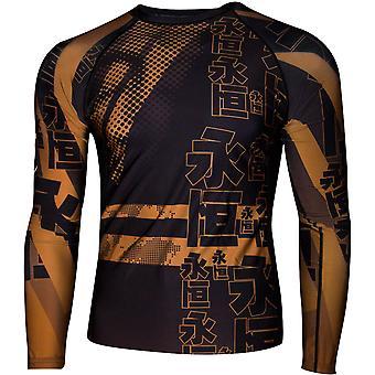 Dokebi Eternal Long Sleeve MMA Rashguard - Brown