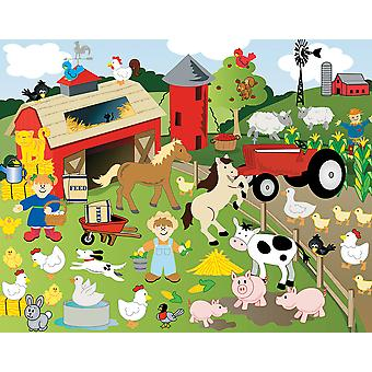 12 Design Your Own Cute Farm Animal Sticker Scenes for Kids Crafts