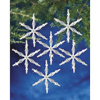 Holiday Beaded Ornament Kit Ice Crystal Snowflake 3