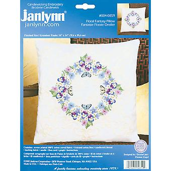Kit de broderie Candlewicking floral Fantasy 14 « X 14 » 4 0859