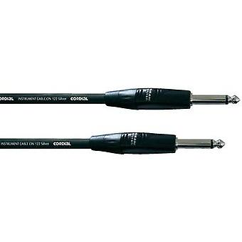Cordial CII3PP 6.3 mm Jack Instrument cable 3 m Black