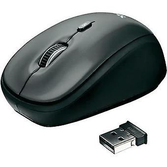 Wireless mouse Optical Trust Black