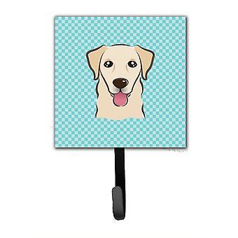 Checkerboard Blue Golden Retriever Leash or Key Holder BB1190SH4