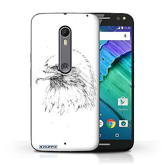 STUFF4 Case/Cover for Motorola Moto X Style/Eagle/Bird/Sketch Drawing