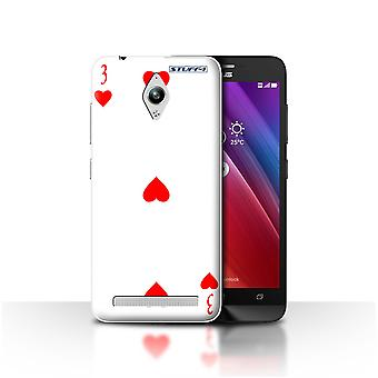 STUFF4 Case/Cover for Asus Zenfone Go ZC500TG/3 of Hearts/Playing Cards
