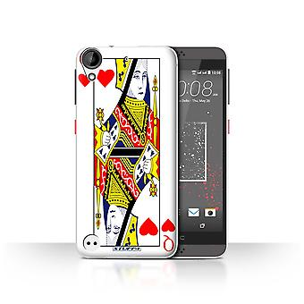 STUFF4 Case/Cover for HTC Desire 630/Queen of Hearts/Playing Cards