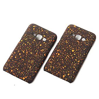 Cell phone cover case bumper shell for Samsung Galaxy J1 2016 3D star Orange