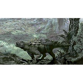 Polacanthus var ett tungt bepansrade infraordningen från England affisch Skriv