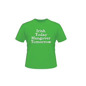 St Patrick's Day Short Sleeve 100% Cotton Irish Today Hungover Tomorrow T-Shirt