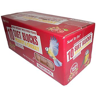 Oksetalg gå blokke Peanut & Cherry værdi 10 Pack