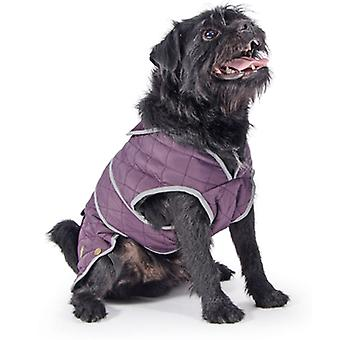 Muddy Paws Barker Quilted Jacket Damson Extra Large
