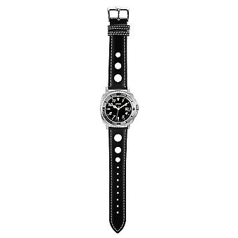 4YOU Herren Uhr Armbanduhr Analog Quarz Kunstleder 250003000
