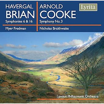 H. Brian - Havergal Brian: Symphonies Nos. 6 & 16; Arnold Cooke: Symphony No. 3 [CD] USA import