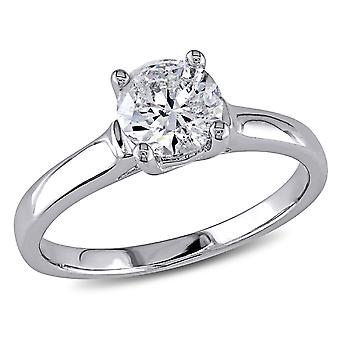 Diamond Solitaire Engagement Ring 1.0 Carat (ctw) in 14K White Gold