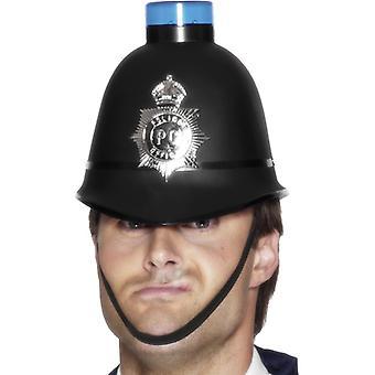Casco de policía con baterías incl. luz azul casquillo del sombrero del policía