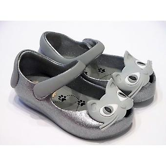 Mini Melissa Ultragirl Kitty Silver Toddler Shoes From Mini Melissa