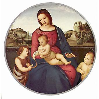 Raphael - Woman with Children Poster Print Giclee