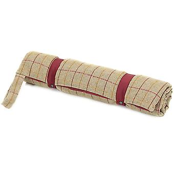 Tweedmill Tweed Travel Dog Bed With Waterproof Base - 925/Red