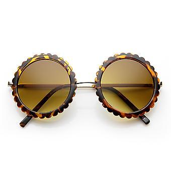 Womens élégantes tour de lunettes de soleil mode Floral bord coupé